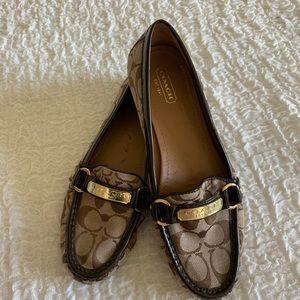 Coach Felisha Brown Signature Loafers Size 9.5